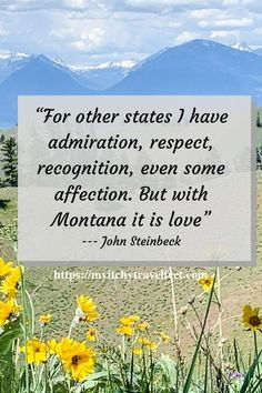 A trip to Montana is truly inspirational. You may just fall in love liked John Steinbeck did. Check out Montana travel destinations that are sure to inspire you. #boomertravel #montana #usadestinations Many Glacier Hotel, Montana Lakes, Visit Montana, National Park Lodges, Best Travel Quotes, Travel Activities, Travel Inspiration, Inspiration Quotes