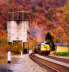 Train in Thurmond, West Virginia, USA.  One of my favorite places to be. Can't wait to get back here..