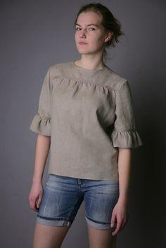 Pure Linen Natural Blouse for Woman. $39.00, via Etsy. - blouse pink womens, blouse black, shirt and blouse styles *sponsored https://www.pinterest.com/blouses_blouse/ https://www.pinterest.com/explore/blouse/ https://www.pinterest.com/blouses_blouse/blouses/ http://www.lanebryant.com/apparel/plus-size-tops/blouses/21288c17318c90/index.cat