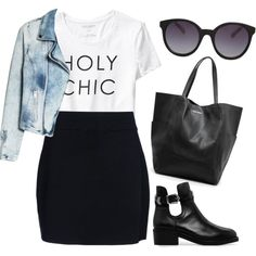 Holy chic by maria-maldonado on Polyvore featuring moda, Old Navy, MANGO and A.L.C.