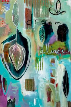 """Dream Alive Awake""  (sold)  36"" x 24"", acrylic on canvas"
