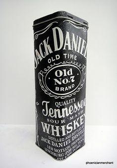 Vintage Billboard Tin Box Jack Daniels No 7 Old Time Tennessee Sour Mash Whiskey | eBay