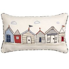Beach hut cushion from John Lewis. Question: could I make my own version of…