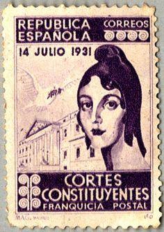 Sello de correos de la República