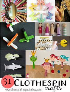 Hello friends! Today I have rounded up a ton of great summer crafts: 31 Clever Clothespin Crafts. Summer for me means pinning the clothes up and letting them dry outside of the line. So, why not…