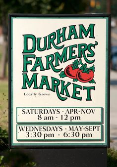 Come to Durham Farmers' Market & pick up Native! Durham North Carolina, North Carolina Homes, Nashville Farmers Market, Farmers Market Sign, Durham County, Chapel Hill Nc, Down South, Oui Oui, Future Travel