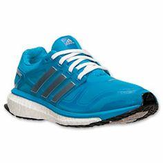 Women's adidas Energy Boost 2M Running Shoes| FinishLine.com | Solar Blue/White