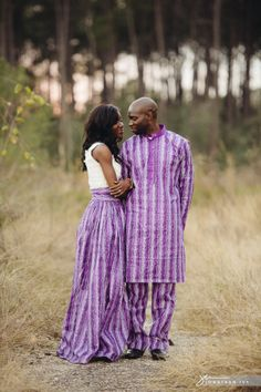 Nigerian Couple Engagement photos in Traditional Nigerian Wedding clothes #nigerian #wedding photo by www.JonathanIvyPhoto.com