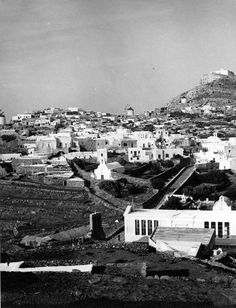 City of Sikinos, Cyclades, Greece.  Date: June 1951