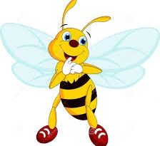 Bumble bee with red shoes.
