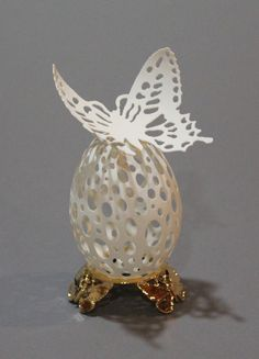 LARISA SAFARYAN  Butterfly, 2012 Goose Egg shell www.woodsymphony.com