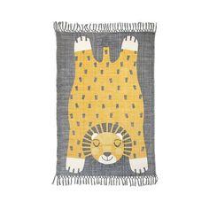 Kinderzimmerteppich mit Fransen und Löwen-Motiv von Nattiot Preis: 134 € plus Versand, gefunden auf Amazon Gibt es hier: http://amzn.to/2misRPE #fuerKinder #Kinderzimmer #Teppich #Löwe