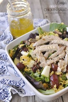 Another recipe from one of our favorite Provo, Utah restaurants. Cubby's Apple Pecan Chicken Salad is a great combo of flavors, textures and colors! Apple Pecan Chicken Salad Recipe, Pecan Chicken Salads, Chicken Salad Recipes, Apple Chicken, Main Dish Salads, Main Dishes, Side Dishes, Real Food Recipes, Healthy Recipes