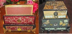 Artfully Musing: Cigar Box Chests by Creative Team Members Julia Craighead and Marilyn Miller