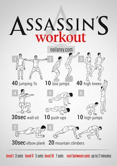 Fitness guru Neila Rey has created a fantastic series of visual workout posters that are inspired by a popular movies, television shows, and video games. Fitness Workouts, Gym Workout Tips, Workout Challenge, At Home Workouts, Fitness Motivation, Weight Workouts, Workout Routines, Hero Workouts, Parkour Workout