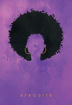 Afrodite - Hair Girl Collection Art Print