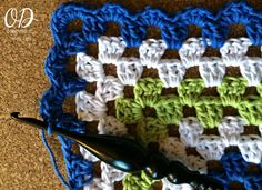 Edging Mitered Granny Dishcloth