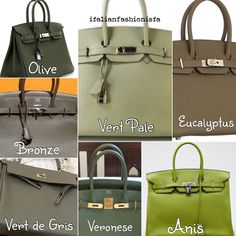 Hermes greens part 2 - color chart