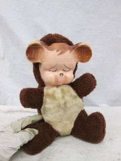 shopgoodwill.com: Old Rubber Faces Stuffed Teddy Bear
