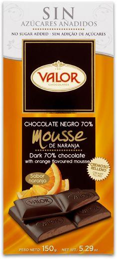 ¿Te gusta el chocolate con Naranja? Entonces debes probar esta tableta de Valor. No hay nada igual.