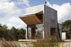 "Crosson Clarke Carnachan Architects ""cabaña/trineo"" Nueva Zelanda"