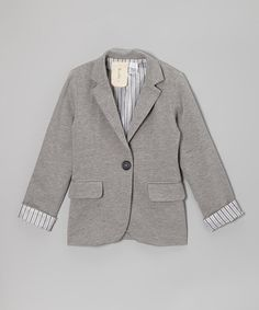 Take a look at this Gray Blazer by Kiddo by Katie on #zulily today!