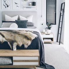 Next on the shopping list is definitely a beautiful natural hide from @hidesofexcellence  Pic via @oh.eight.oh.nine of her amazeballs home  #interiorstyling #bedroominspo #scandinavianstyle #scandi #interiordesign