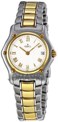 Classic Lady White Dial Steel and Gold Bracelet Ladies Watch