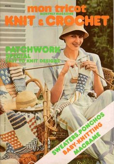 Mon Tricot MD 35 Knit Crochet Patterns Patchwork Afghan Hammock Macrame 1976 #MonTricotKnitandCrochet