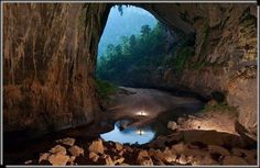 The Largest known cave in the world-Son Doong cave* in the central province Quan...