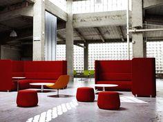 Bernhardt Design's Code Sofa and Quiet Table
