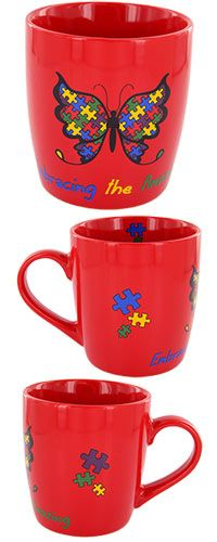 Embracing The Amazing Autism Awareness Mug - Purchase helps fund research and therapy for children with autism!