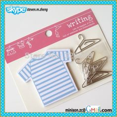 #Freeshipping #gifts #stationery  Fancy novelty design of metal clips, office paper clips and memo pads supplies