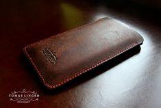 pouzdro pro apple iphone z hnědé kůže krásné ručně vyrobené