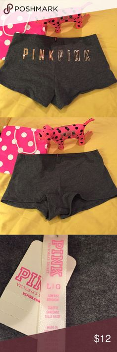 NWT VS PINK BoyShort large New with tags Victoria Secret Pink Boyshort  low rise size Large ,Fabric is 91% cotton and 9% elastase. PINK Victoria's Secret Intimates & Sleepwear Panties