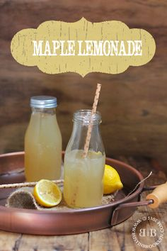 All-natural maple lemonade, a light and healthy thirst quencher for summer!