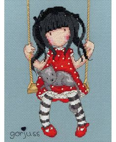 Gorjuss Ruby Cross Stitch Kit £23.00 | Past Impressions | Bothy Threads