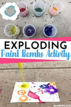 A fun, messy art activity to do outdoors, this Exploding Paint Bombs Activity will be an instant hit for your toddler and preschooler stuck indoors due to the heat! Check out this easy to setup and super fun and squeal-inducing kids activity now. #FunOutdoorKidsActivities #PreschoolArtsAndCrafts #ToddlerCraftsAndActivities