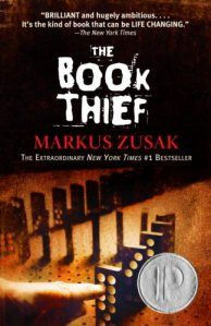 #thebookthief The Book Thief by Mark Zusak. A YA Novel dedicated to describing Hitler's Germany from a non-jewish child's (living in Germanys) point of view.