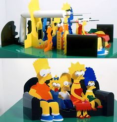 simpsons perspective art http://www.thelennoxx.com/thelennoxx/art/perspective-art/