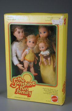 The Sunshine Family dolls...My god I had this whole family...plus grandma and grandpa....