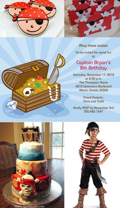 pirate birthday party inspiration board