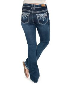 Look at this #zulilyfind! Dark Wash Maci Boot Cut Jeans - Plus #zulilyfinds