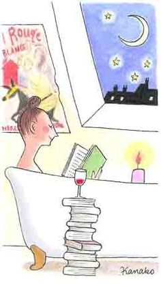Ahhhh.... Good book, and glass of wine! Now I just need a bath tub :( lol