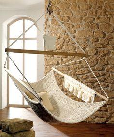 Abhängen: Großer Hängestuhl für die Wohnung // just chill: hammock for your home by Traumschwinger via DaWanda.com