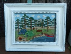 Camping+by+the+Lake++Counted+Cross+Stitch+by+CampCrossStitch,+$6.00