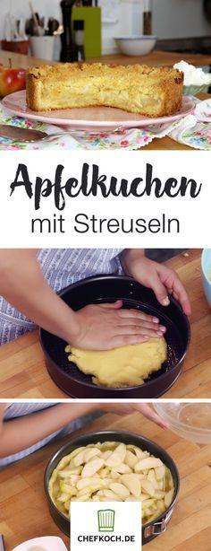 Um diesen herrlichen Apfelkuchen mit Streuseln kommen Naschkatzen nicht herum. Rike zeigt euch die einfache Zubereitung im Video.