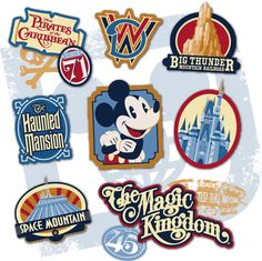 Disney Digital download Magic Kingdom Parks graphic/image perfect for Project Life, pocket scrapbooking, digital scrapbooking, and paper/tangible scrapbooking. See more info: http://capturingmagic.me/DisneyProjectLife
