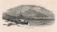 The Coast Near Genoa, Italy. Antique print recovered from an old copy of 'Picturesque Europe' dating to circa Antique Prints, Vintage Prints, Retro Vintage, Genoa Italy, Art Decor, 19th Century, Coast, Dating