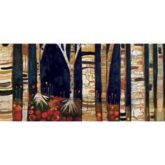 GreenBox Art 'Birch Trees' by Eli Halpin Graphic Art on Wrapped Canvas | AllModern
